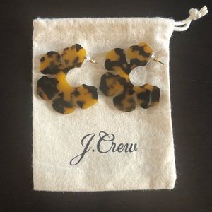 J. Crew hoop flower earrings